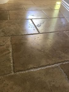 travertine tile floor cleaning